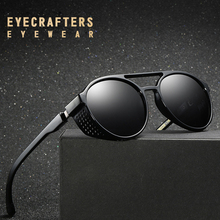 EYECRATFERS 2019 NEW Polarized Sunglasses Gothic Steampunk Mens Womens Fashion Retro Vintage Shield Eyewear Shades