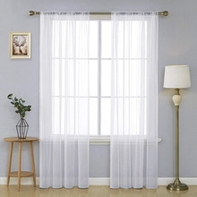 Modern Solid Color Window Tulle Curtains For Living Room Kitchen Sheer Curtains For Bedroom Window Screening Finished Voile цена и фото