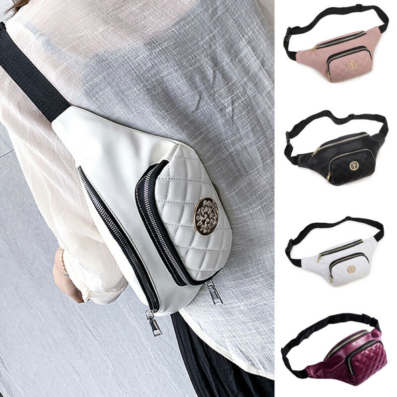 New Men Women Chest Pouch Bag Fanny Pack Waist Wallet Sports Zipped Shoulder Bag