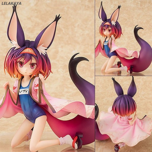 Anime NO GAME No LIFE Hatsuse Izuna Fox Cat girl Bunny Girl Swimsuit Ver. 1/7 Scale Painted PVC Action Figure Model Toys 20cm