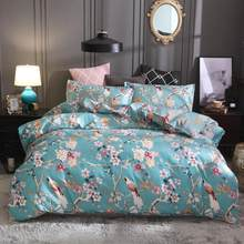 flower bedding set luxury wedding comforter bedding sets blue red bed set duvet cover set bed linen plant bed cover set twin queen king size bedding set adults chinese style(China)
