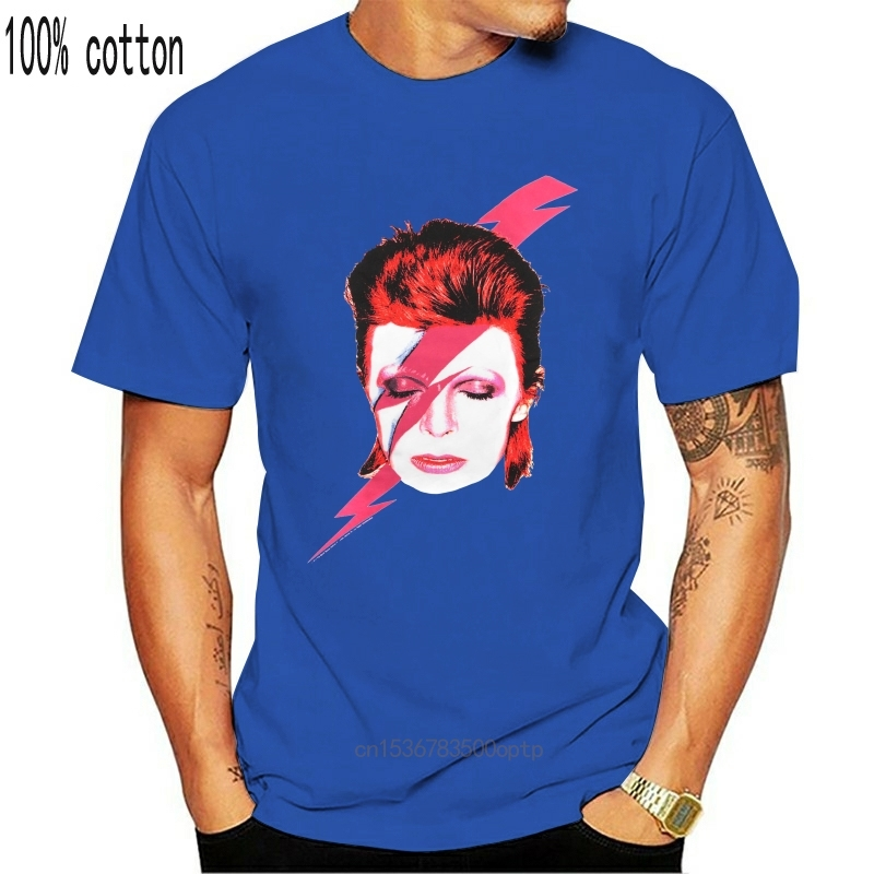 David Bowie homme Tee Shirt blanc Tee Shirt Rock Ziggy Stardut Vintage Tee Shirt humoristique