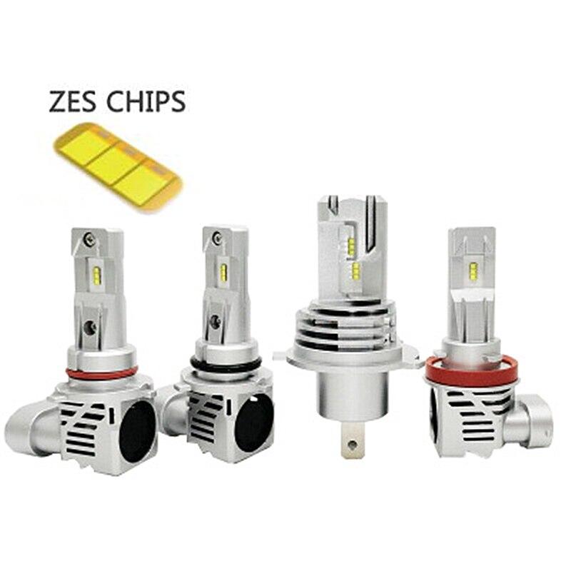 Mini 2pcs LED H4 H7 H11 9005 9006 H8 H9 ZES Chip Bulb Canbus Car Headlight 110W 12000LM 6000K Led Light Fog Lamp 24V Automotivo