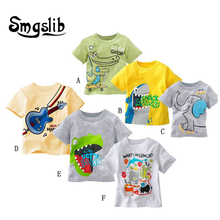Smgslib graphic t shirts  T-shirts Kids Print T Shirt For Children Summer T-shirt Cotton Tops Clothing clothes  boys clothes floral and graphic print buttons henley t shirt