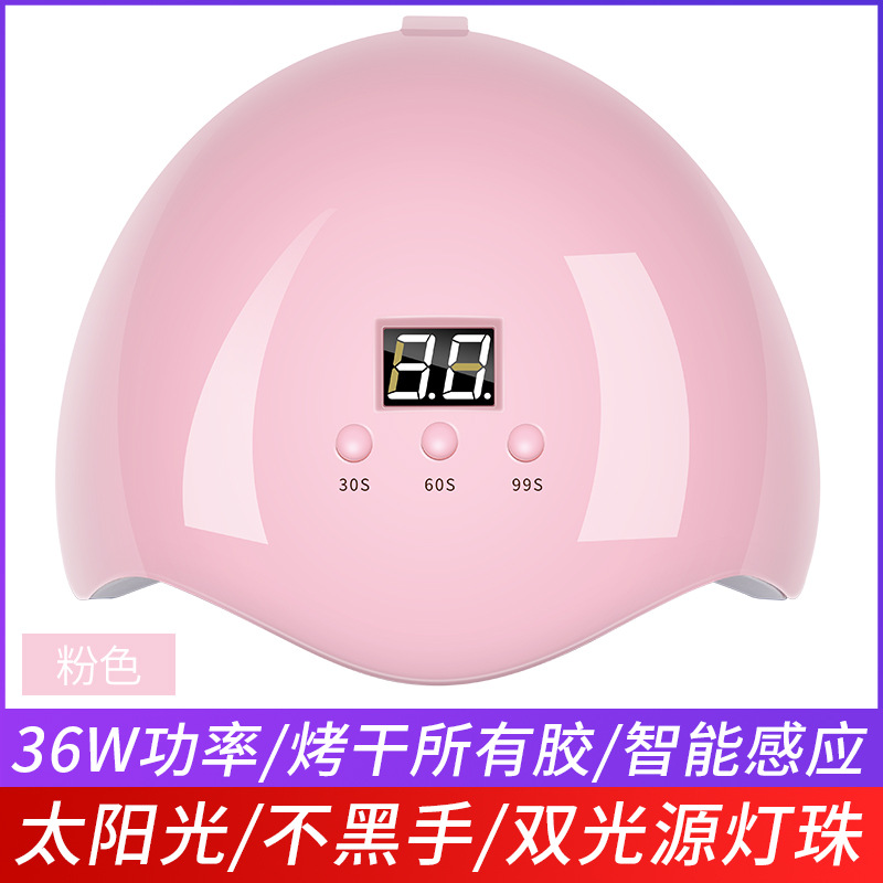 Portable 36W Nail Dryer Machine UV LED Lamp Micro USB Cable Home Use Nail UV Gel Varnish Dryer 12 LEDS Lamp Nail Art Tools