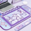 Kawaii Rabbit Trap Gaming Mouse Pad 44cm*80cm Super Cute Thickened Office Computer Big Mouse Pad Keyboard pad Wrist Rest Girl