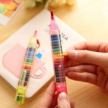 크리 에이 티브 20 색 크레용 학생 드로잉 컬러 연필 여러 가지 빛깔의 아트 Kawaii 쓰기 펜 어린이 선물 학교 문구 용품