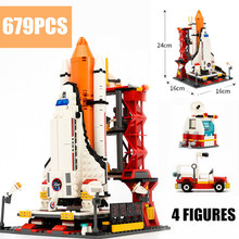 New Space Ships The Shuttle Launch Center Model Fit Legoings Technic City Figures Building Block Bricks Toys Kid Gift Birthday