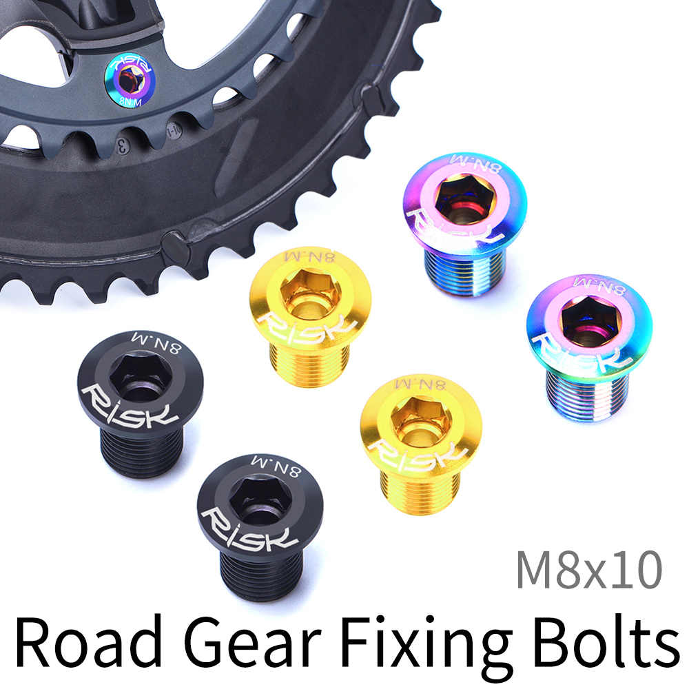 5pcs*MTB Road Bike Crank Single//Double Gear Chainring Fixed Bolt