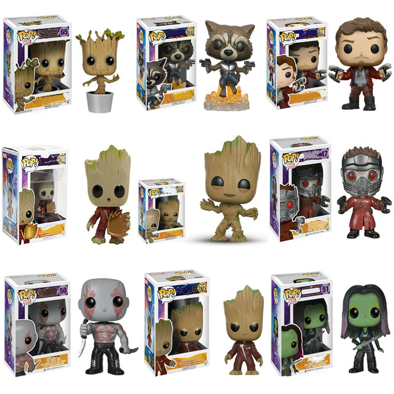 Funko POP Marvel's Star-Lord Untitled Avengers Film Star Lord Grooted Birthday Gift For Kids