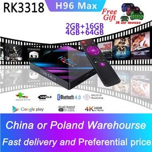 Caixa de tv smart h96 max smart iptv, android 9.0, 4 k, espanha, portugal, árabe, itália, reino unido, não só canais incluídos caixa de tv vitalícia