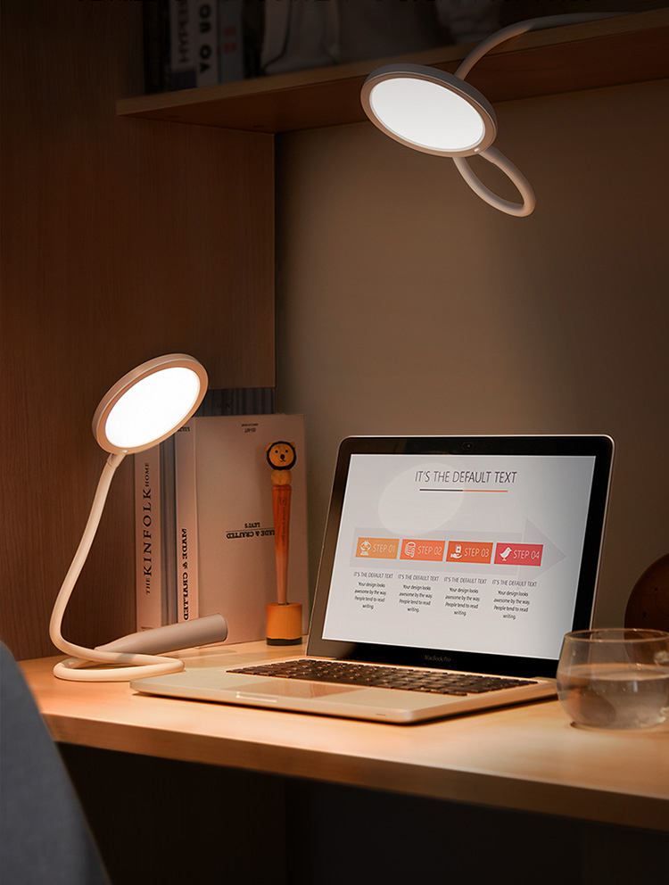Baseus Comfort Reading Charging Uniform Light Hose Desk Lamp White DGYR-02 5