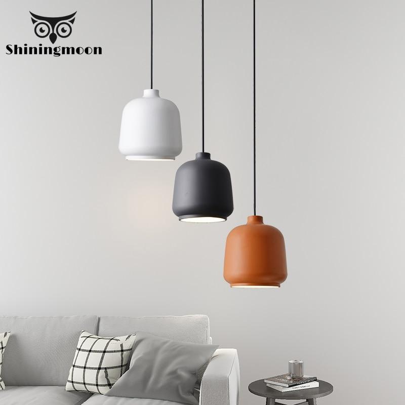 Modern Led Dining Room Pendant Lights Nordic Iron Living Room Pendant Lamp Kitchen Bar Cafe Decoration Hanglamp Light Fixtures
