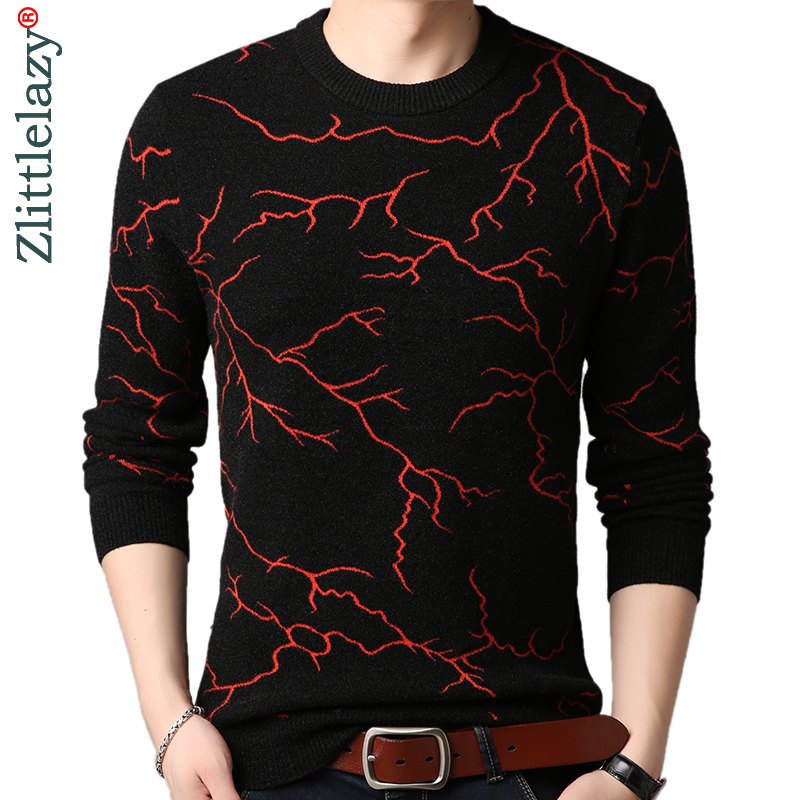 2019 Brand Thick Warm Winter Lightning Knitted Pull Sweater Men Wear Jersey Mens Pullover Knit Mens Sweaters Male Fashions 9340