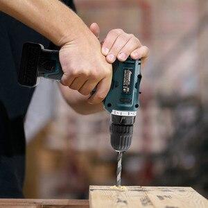 Image 3 - Lomvum furadeira elétrica à prova dwaterproof água parafusadeira elétrica recarregável multifunções ferramentas elétricas mini furadeira sem fio