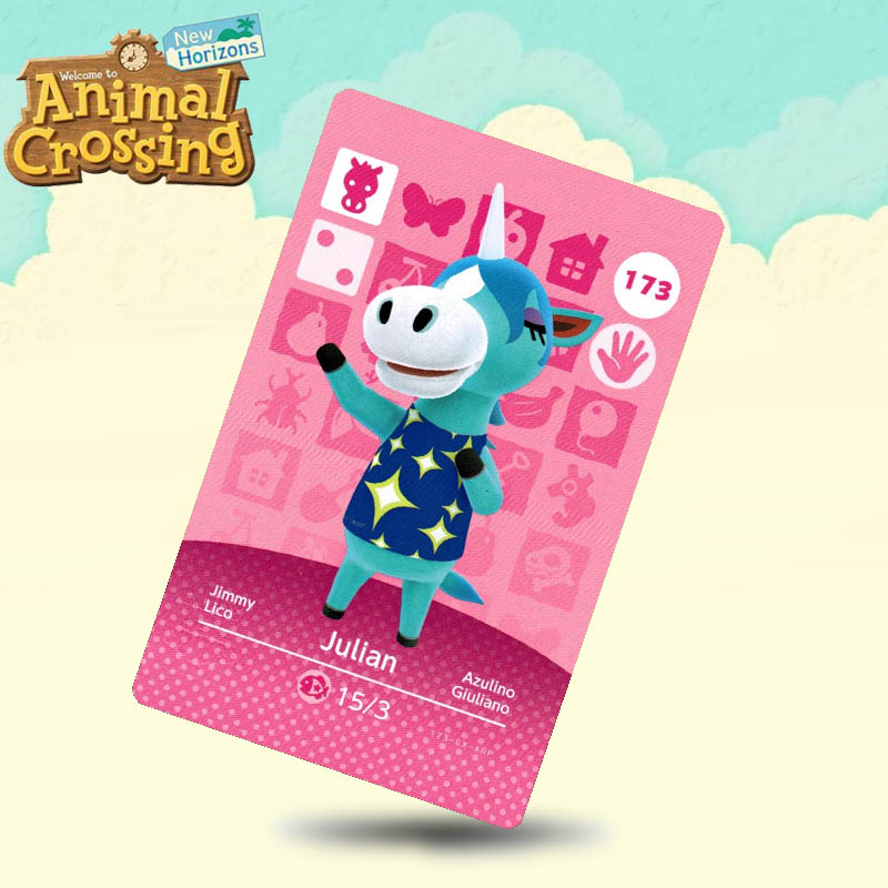 173 Julian Animal Crossing Card Amiibo Cards Work For Switch NS 3DS Games