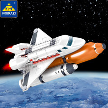 283Pcs Aviation Technic Discovery Spacecraft Model Building Blocks Sets DIY Bricks Educational Toys For Children legoinglys lepin 15002 2133pcs new cafe corner model building kits blocks kid diy educational legoinglys children day gift brinquedos 10182
