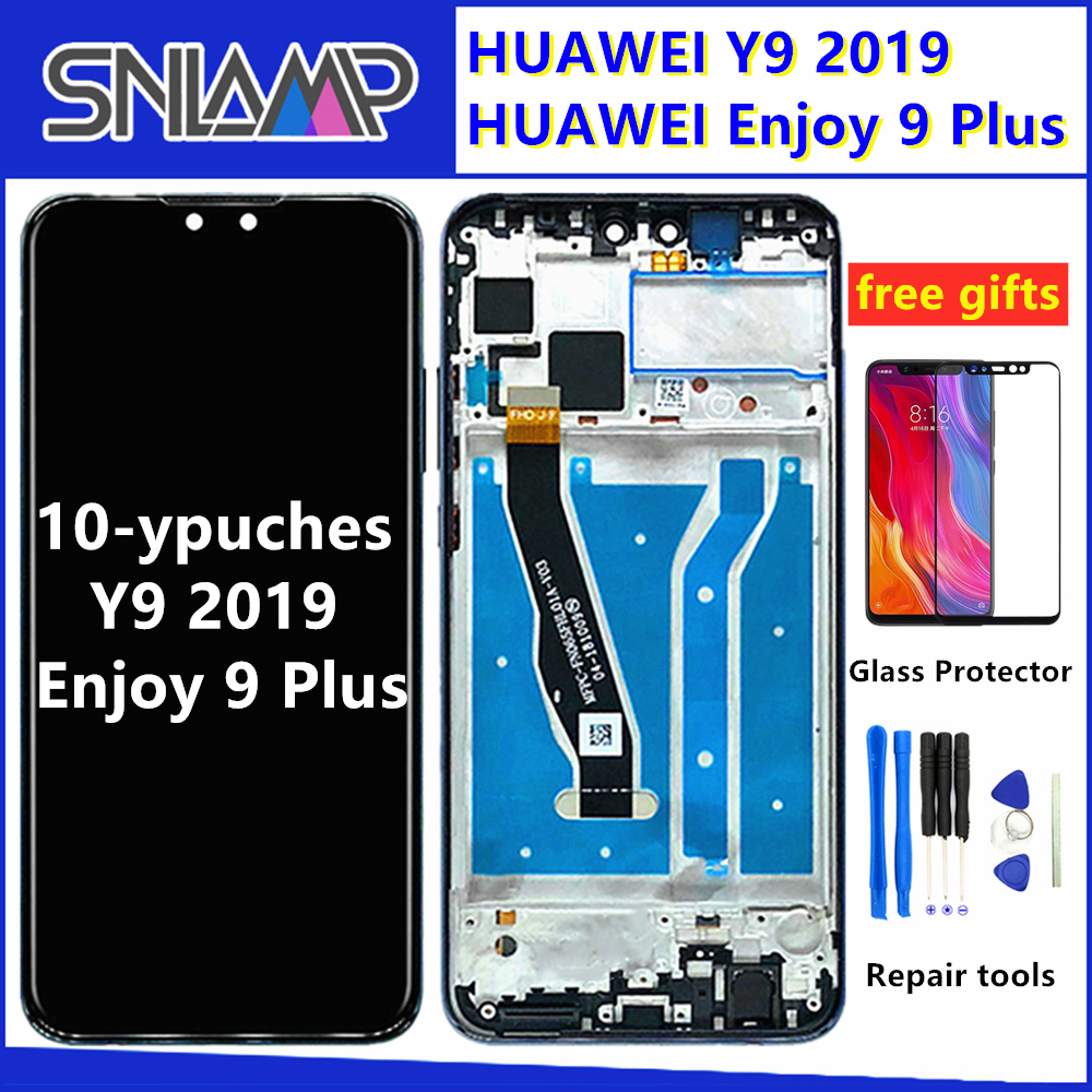 6.5 Inch 10 Touch Original LCD For HUAWEI Y9 2019 Lcd With Frame Display Screen For HUAWEI Y9 2019 Screen JKM LX1 JKM LX2 LX3