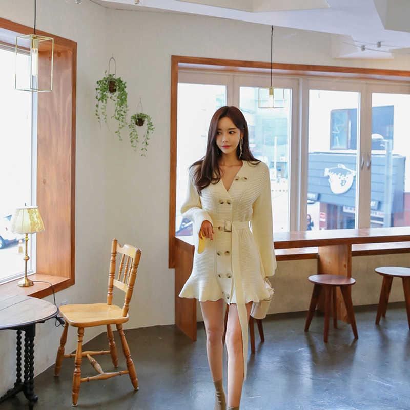 Yeni varış kadınlar vintage kapalı omuz temel sevimli elbise moda rahat zarif yüksek kaliteli örgü yüksek elastikiyet mermaid elbise