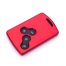 цена на 4 Buttons ABS Car Key Case Cover For Renault Duster Captur Clio Logan Megane 1 2 3 Koleos Scenic Card Auto Styling Accessories