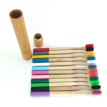 Bamboo Toothbrush Portable Travle Teeth-Care Eco-Friendyly with Natrual Straw-Case
