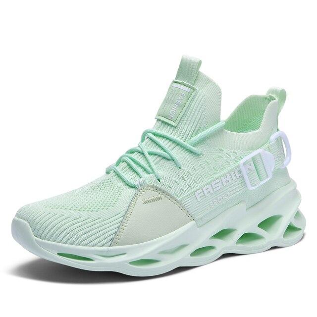 النساء أحذية رياضية 2020 موضة جديدة الرجال زوجين احذية الجري خفيفة الوزن شفرة أحذية في الهواء الطلق أحذية رياضية غير رسمية سهلة المشي 2020