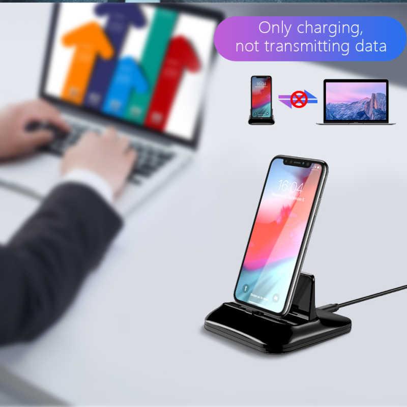 المغناطيسي حامل شاحن العالمي تهمة الهاتف المحمول حامل حامل ل فون 8 زائد X XR XS ماكس 2 في 1 سطح المكتب شحن براكر