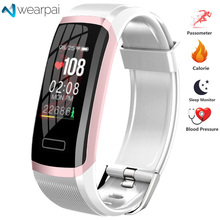 Wearpai GT101 Smart bracelet Heart rate monitor band Fitness tracker women men Sport Wristband Waterproof for ios android