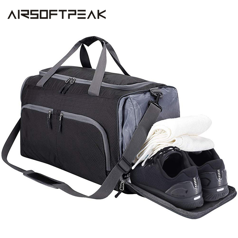 Gym Motocross Dirt Bike Interesting Mens And Womens Travel Folding Bags Sports Waterproof Light Travel Bags
