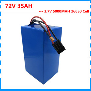 High capacity 72V Ebike battery 3500W 72V 35AH Lithium battery 3.7V 5000mAH 26650 Cell 50A BMS with 84V 4A Charger