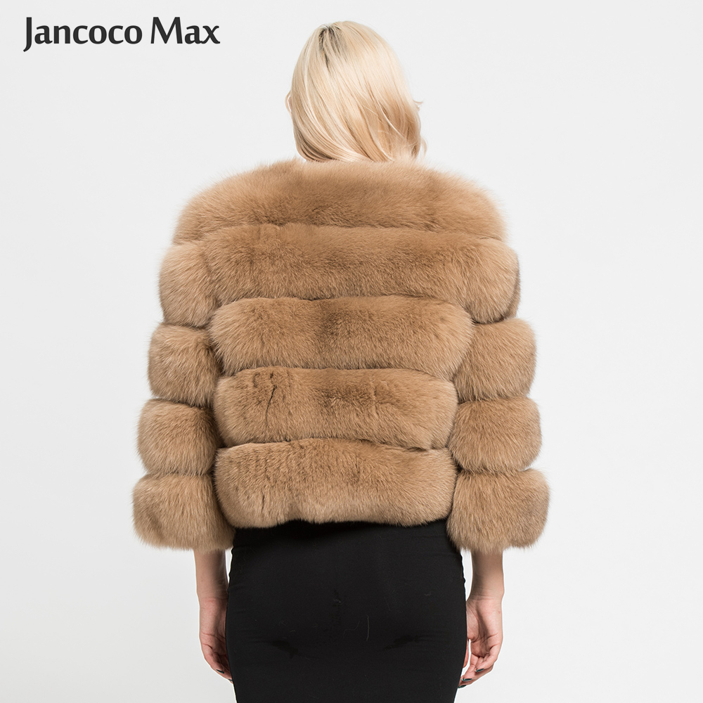 Image 2 - Women's Real Fox Fur Coat Winter Fashion Fur Jackets Thick Warm Fluffy High Quality  Outerwear Female Genuine Fur S1796-in Real Fur from Women's Clothing