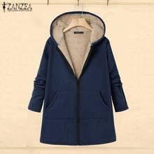 ZANZEA Women Coats Casual Warm Outwear 2019 Autumn Winter Female Loose Fleece Fur Jackets