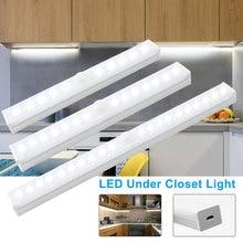 Bombilla LED de 30/21/15CM para cocina con Sensor de movimiento, lámpara de pared inalámbrica, luz LED para armario, USB, para armario, escalera, armario, cama