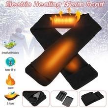 Моющийся открытый Электрический нагревательный шарф с батареей для мужчин и женщин Зимняя теплая одежда мотоцикл Охота