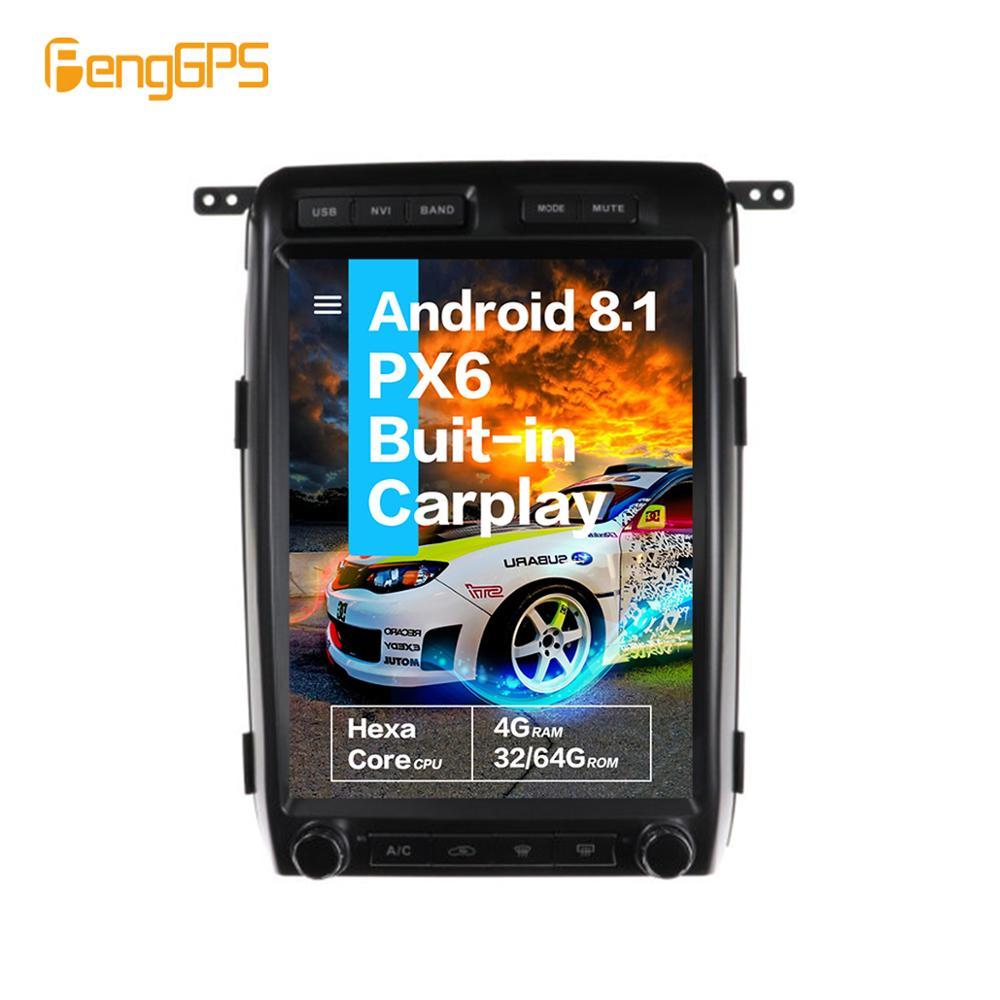 Tesla écran Android PX6 pour Ford Raptor F150 2009-2014 voiture lecteur multimédia Radio pas de DVD GPS Navigation tête unité Audio