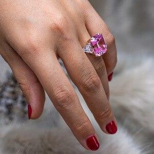 Image 5 - PANSYSEN יוקרה לדמות moissanite סיטרין גדול חן טבעות לנשים מוצק 925 כסף בסדר תכשיטי טבעת גודל 5 12