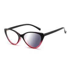 Fotochromowy szary obiektyw kot kobiety okulary okulary do czytania przebarwienia dioptrii Gafas okulary rama tanie tanio EOOUOOE Fotochromowe 5 2cm Cr-39 P026 Z tworzywa sztucznego 4 0cm
