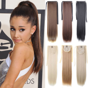 AISI BEAUTY Silky Straight Synthetic Clip in Drawstring Ponytail Hairpieces for Women Hair Extension High Temperature Fiber(China)