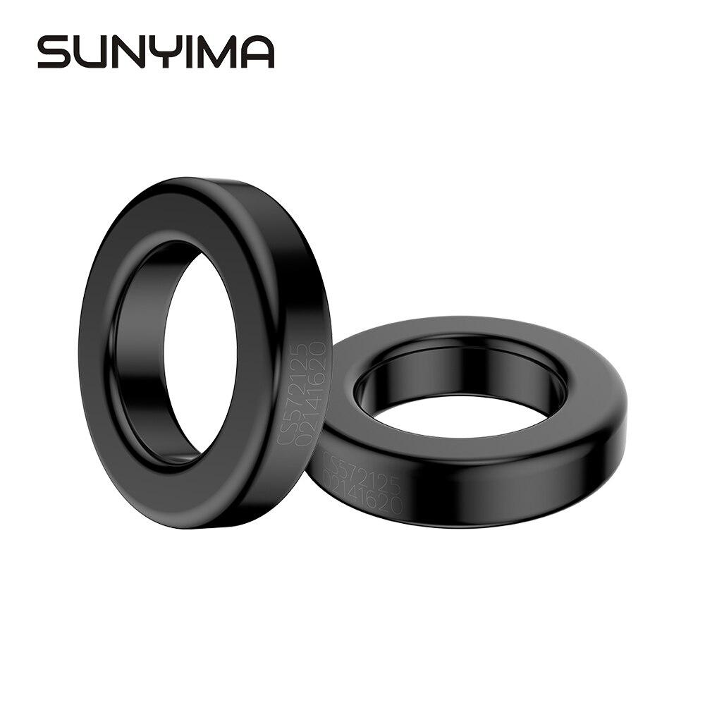 Sunyima 2 pces sendust inversor de onda senoidal anel magnético MS-225125-2 57.2*35.6*14.0