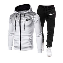 2021 brand sportswear men's suit new autumn two-piece sportswear suit men's casual sweatshirt + pants printing hoodie