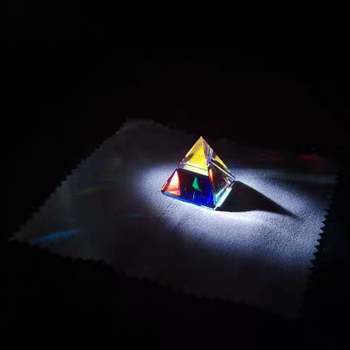 Pyramid Light Gift Optical Glass Prism Cube Creative 1 inch corner cube prism no coating height 19mm high precision bk7 optical glass trihedral retroreflector