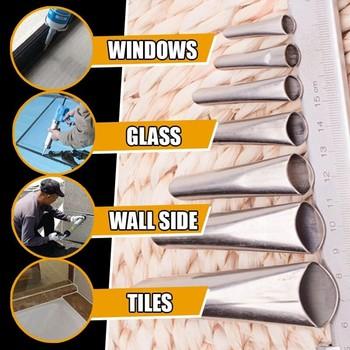 Hot Plastic Universal Caulking Silicone Sealant Nozzle Glue  Nozzle Glass Glue Tip Mouth  Home Improvement Construction Tools 4
