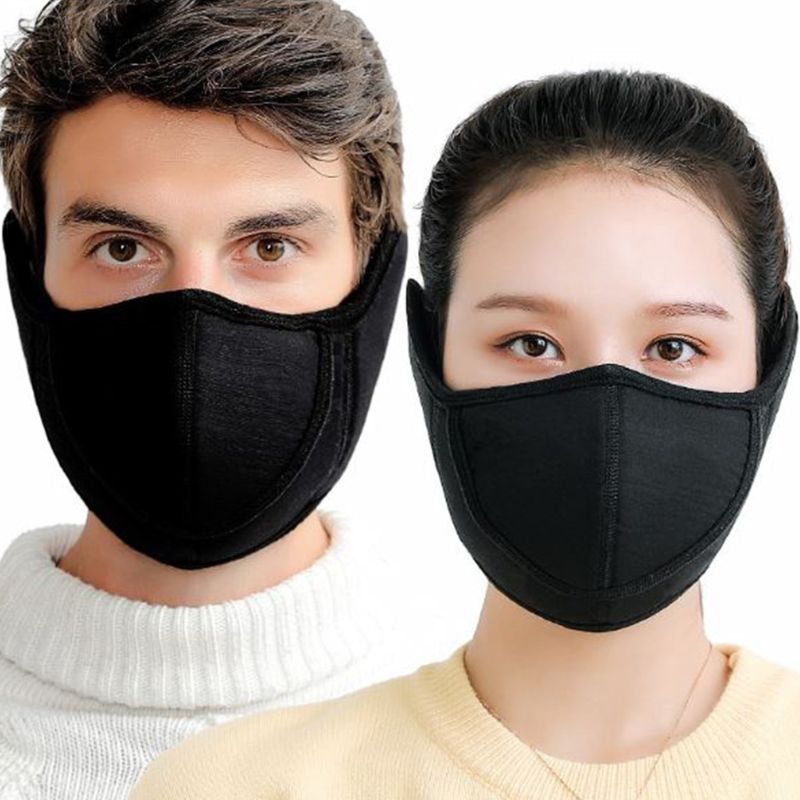New Winter Warm Adults Earmuffs Mask Outdoor Men Women Open Nose Breathable Rriding Anti Dust Masks
