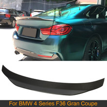 De fibra de carbono auto Spoiler trasero ala para BMW serie 4 F36 Gran Coupe 2013 - 2018 trasera maletero tapa labio alerón de ala de FRP
