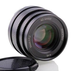 Image 2 - Riseshunt عدسة قياسية بفتحة كبيرة ، 35 مللي متر f/1.2 ، للكاميرا بدون مرآة ، JINGJI