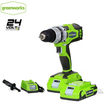 Screwdriver Motor Battery Electric-Drill Greenworks Charger Compact Cordless Max 24V