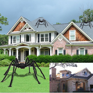 150cm Hairy Giant Spider Decoration Halloween Prop Haunted House Decor Party Holiday Spider Decorations Decoración de halloween(China)