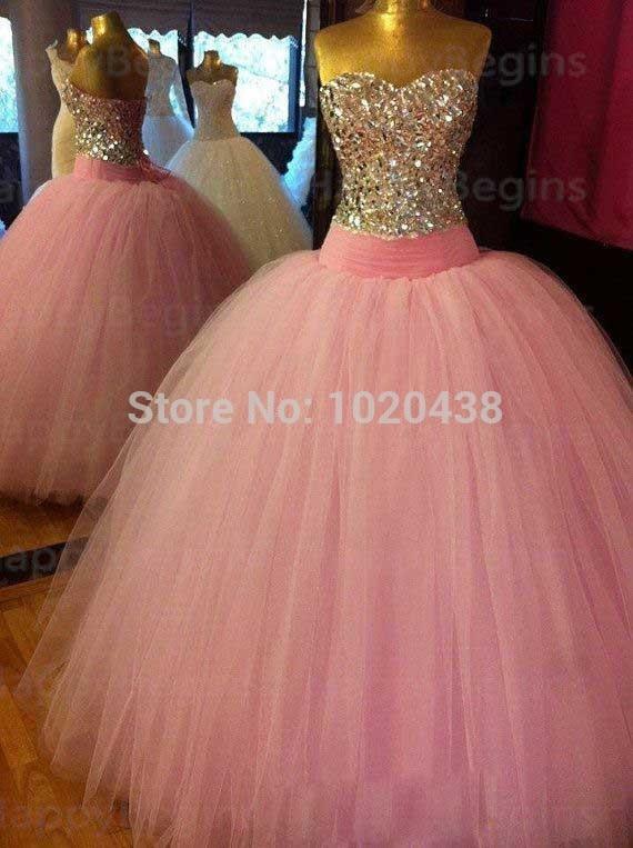 Actual Image Crystal 2018 Vestido De Noiva Quinceanera Prom Sweetheart Vestidos Formal Ball Gowns Mother Of The Bride Dresses