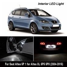 13x led interior mapa cúpula luzes kit para 2004-2015 assento acessórios para altea 5p 1 para altea xl 5p5 5p8 tronco lâmpada da placa de licença