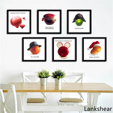 Creative Wall Art Canvas Painting Poster Fruits Vegetables On canvas Pictures For Dining Hall Kitchen Home Decor No Frame